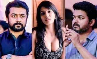 Is there a big producer behind Meera Mitun's attacks on Vijay and Suriya?