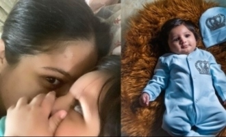 Actress sharing secrets with her five months old baby cute photo goes viral