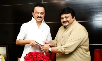 Actor Prabhu meets DMK chief Stalin!