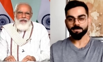 PM Modi jokes about chole bature business downfall in conversation with Kohli!