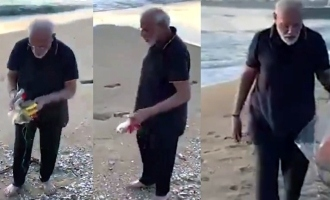 Prime Minister Modi's surprise beach cleaning video turns viral!