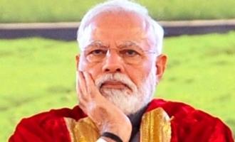 பிரதமர் மோடியின் டுவீட்டை அப்படியே காப்பி பேஸ்ட் செய்த பிரபல நடிகை