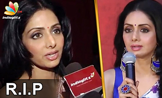 Remembering Sridevi : Last speech of Actress Sridevi for Kollywood