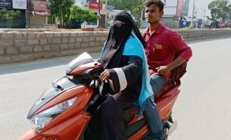 Woman rides scooter for 1400 km to save stranded son!