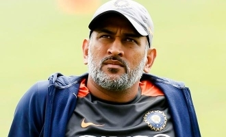 Dhoni submit his samples for corona virus test