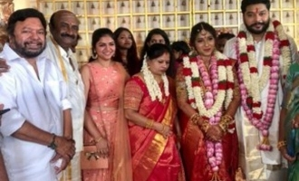 M.S. Bhaskar's daughter Ishwarya wedding and reception - Top Kollywood stars grace