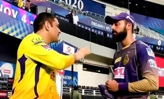 Young players get jersey from Dhoni viral video