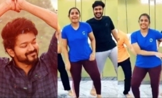 Bhavana and Mynaa 's two different dance versions of  Vijay's 'Vaathi Coming' - videos