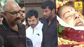 Nadigar Sangam's emotional homage at Jayalalitha's Funeral