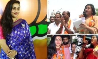 Actress Namitha election campaign at Thiruthurai poondi bjp candidate
