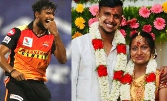 SRH pacer T Natarajan and wife blessed with a baby
