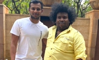 Yogi babu meets his good old friend cricketer Natrarajan