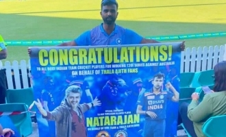 Thala Ajith fans special gesture for T. Natarajan in Australia