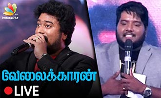 KPY Naveen's Mimicry Performance at Velaikaran Audio Launch