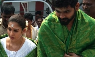 Nayanthara and Vignesh Sivan visit Amman temple