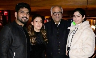 Nayanthara and Vignesh Shivn meet Ajith's Valimai producer!