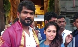 Latest - Lady superstar Nayanthara spotted in Tirupati temple!