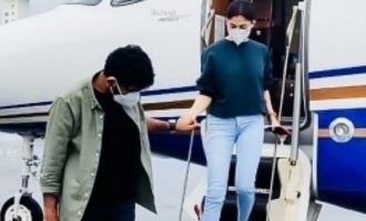 Vicky and Nayan once again take off in a private jet - Adorable pics inspire couple goals