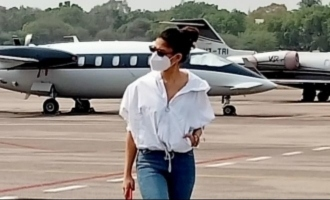 Nayanthara gives a hot update on mega movie by just taking a flight
