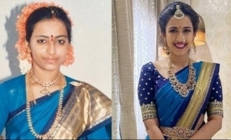 Young actress gets ready for marriage wearing her mother's 32 years old silk saree