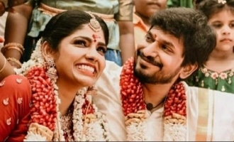 Niranjani Ahathian's first loving message to husband Desingh Periyasamy after marriage