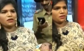 Arandhangi Nisha participates on TV show with  her newborn baby girl