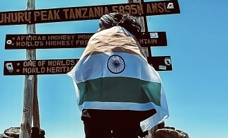 Tamil actress climbs up Mount Kilimanjaro and shares a pic with the Indian flag!