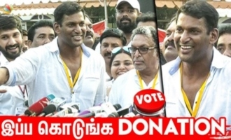 Vishal asks Ishari K Ganesh to donate for Nadigar Sangam