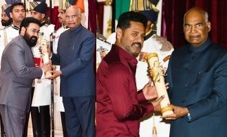 Prabhudeva and Mohanlal receive Padma awards!
