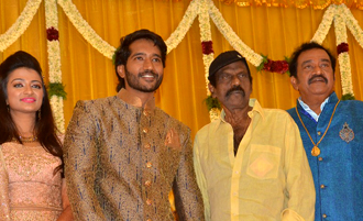 Actor Pandu Son Pintu Wedding Reception Stills