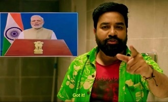 What is the role of Narendra Modi in Venkat Prabhu's 'Party' ?
