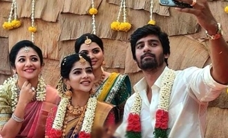 Pavithra and his boyfriend Sudharshan in wedding makeup photo viral