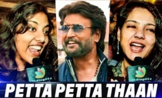 Lady Rajini Fans Mass Celebration at Petta FDFS