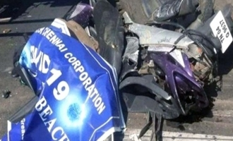 women police died accident on beach road