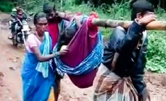[VIDEO] TN: Pregnant woman carried 6 kms in cloth as ambulance fails to reach