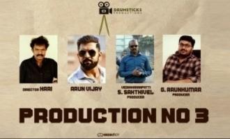 Arun Vijay and Hari combo delights action movie lovers and cinema trade for many reasons