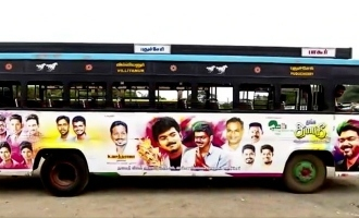 Free travel in buses holding Vijay's stickers