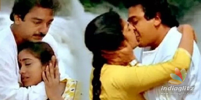 Kamals lip lock with 16 year old actress becomes a huge controversy