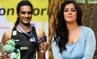 Varalaxmi Sarathkumar praises PV Sindhu!