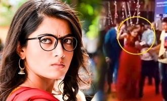 நடிகை ராஷ்மிகாவுக்கு முத்தம் கொடுத்த ரசிகர்: வைரலாகும் வீடியோ