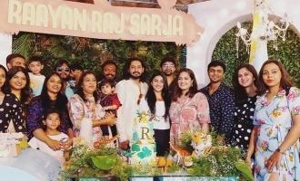 Meghana Raj's super cute birthday party for her son Raayan Raj Sarja! - Pics inside