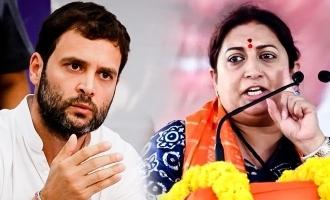 Smriti Irani BJP candidate speech against Rahul Gandhi