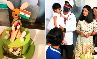 Ajinkya Rahane refuses to cut cake with Kangaroo - video turns viral!