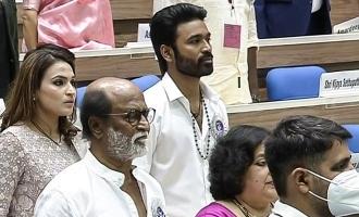 Rajinikanth and his family in award function viral photos
