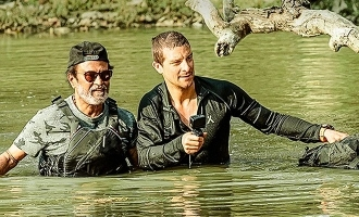 Rajnikanth gets surprise from three stars in Bear Grylls show!