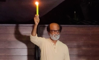 Superstar Rajnikanth participates in 9 minutes at 9 PM corona task!