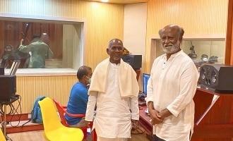 Superstar Rajnikanth visits Ilayaraaja's new studio - photos viral!