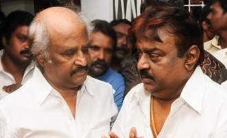 Superstar Rajnikanth meets Captain Vijayakanth!
