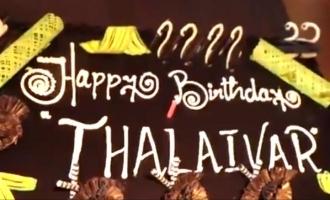 Superstar's birthday celebration with Thalaivar 168 team!