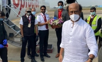 Superstar Rajinikanth Annaathe movie shooting Hyderabad special flight Thalaivar